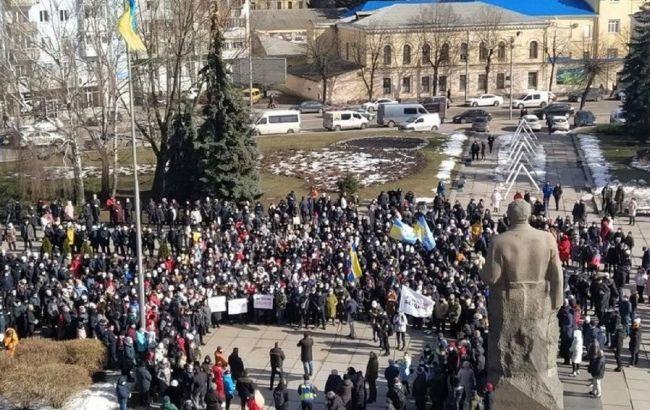 """Карантинные протесты в Украине: митингуют три """"красные"""" области"""