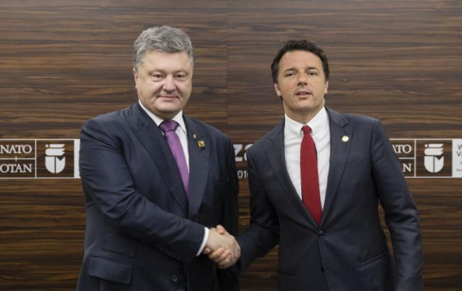 Фото: Порошенко зустрівся з прем'єром Італії Маттео Ренці