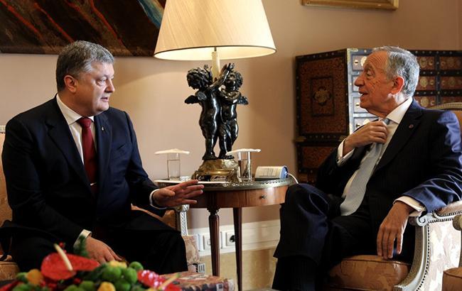 Фото: Петр Порошенко и Марсело Ребелу ди Соза (president.gov.ua)