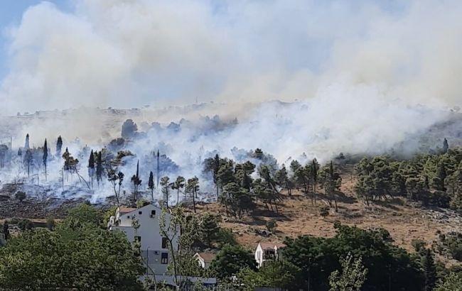 В Черногории вспыхнул лесной пожар. Огонь приблизился к столице