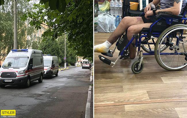 Швидкі мчали по шосе: до Києва прибув новий борт з пораненими бійцями