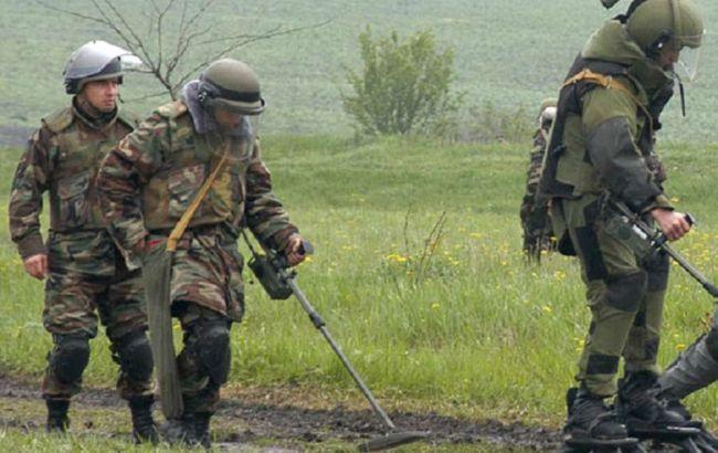 Фото: разминирование Донбасса