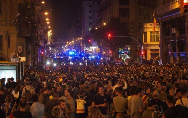 У ході протестів в Каталонії затримано 20 осіб