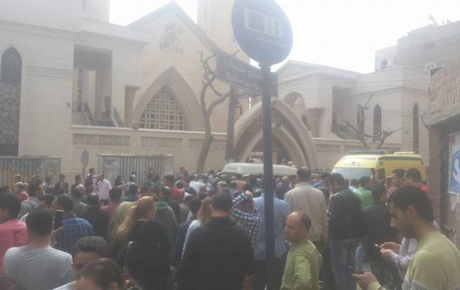 Фото: взрыв в церкви в Египте