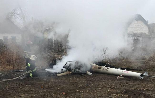 В Полтавской области разбился вертолет, есть погибший