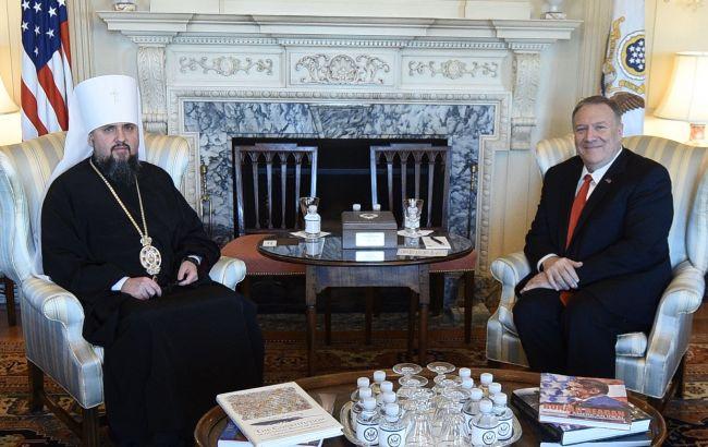 Помпео и Епифаний обсудили притеснения верующих Крыма и ОРДЛО