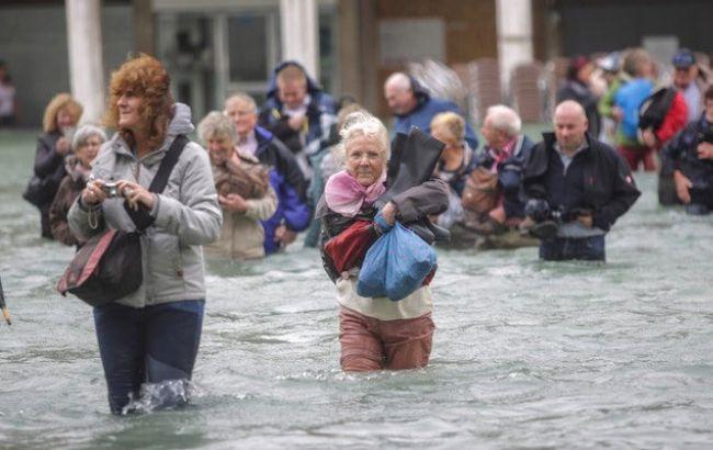 В Венеции уровень воды после пика наводнения идет на спад