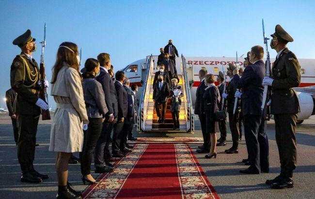 Президент Польщі прибув з візитом в Україну
