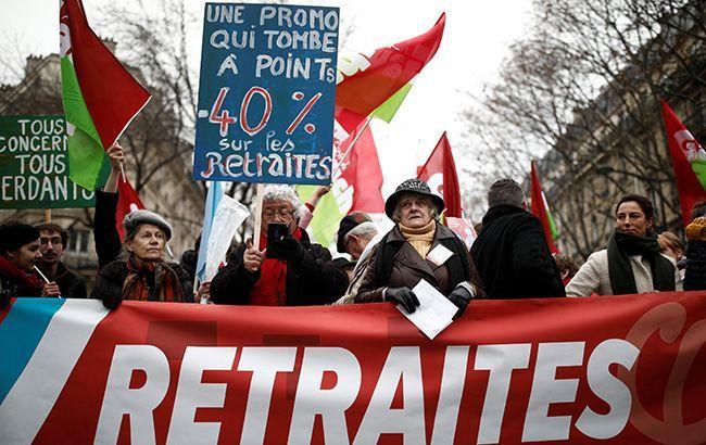 Во Франции начались протесты из-за пенсионной реформы