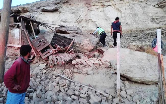 Напобережье Перу произошло мощное землетрясение