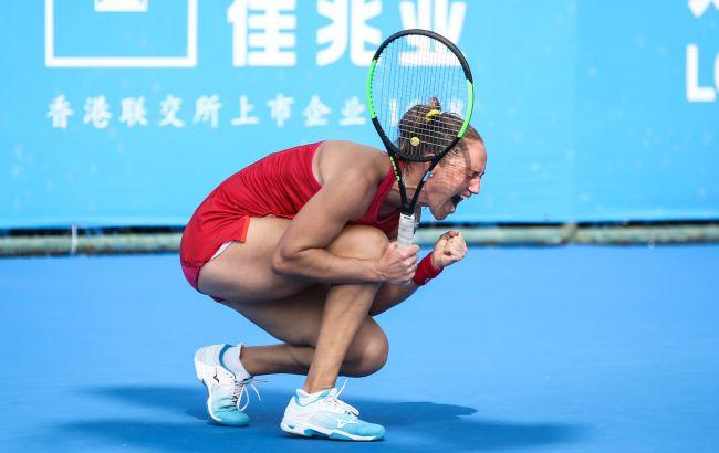 Українська тенісистка пробилася до 1/4 фіналу турніру WTA у Шеньчжені