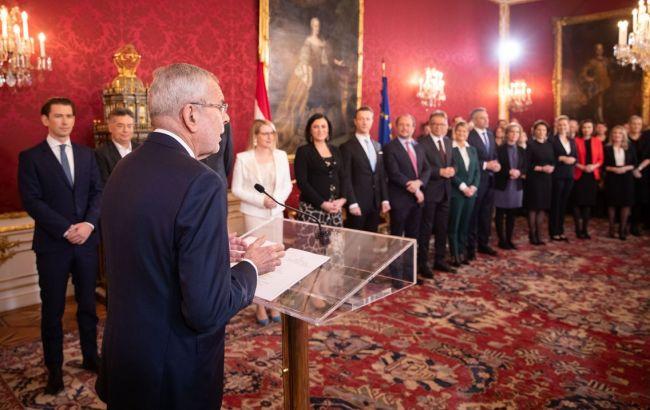 В Австрії президент привів до присяги новий уряд