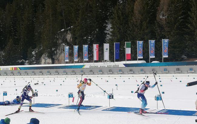 Украина финишировала пятой в смешанной эстафете на ЧМ по биатлону