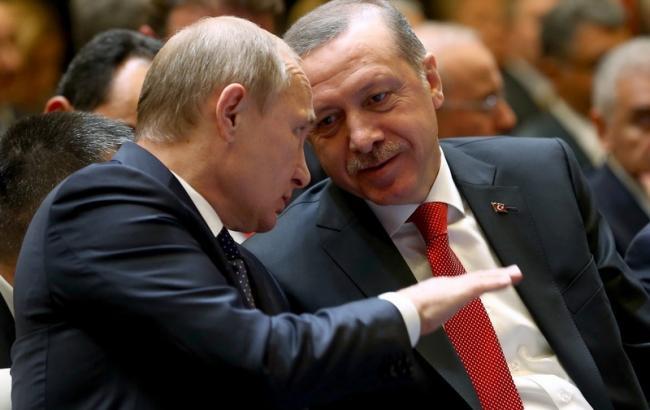 Фото: президент РФ Володимир Путін і президент Туреччини Реджеп Тайіп Ердоган