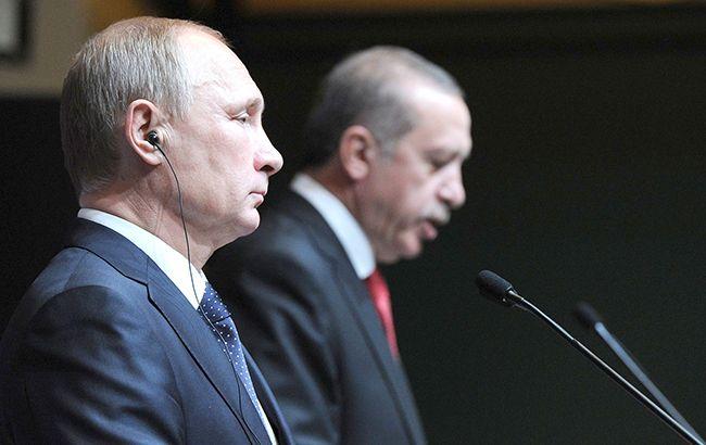 """Президенти Росії і Туреччини Володимир Путін і Реджеп Ердоган заявив про відновлення будівництва газопроводу """"Турецький потік"""""""