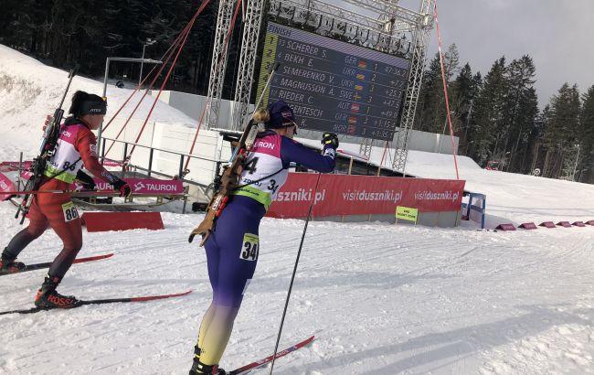 Меркушина завоевала серебро в первой гонке чемпионата Европы по биатлону