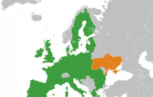 Фото: ЕС и Украина на карте (upload.wikimedia.org)