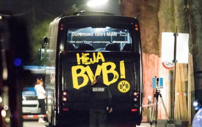 """Фото: автобус дортмундской """"Боруссии"""""""