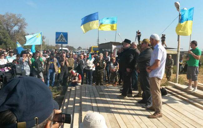 Фото: блокада Крыма, 2015 год