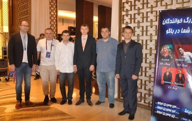 Фото: Украинские шахматисты на турнире в Баку (ukrchess.org.ua)