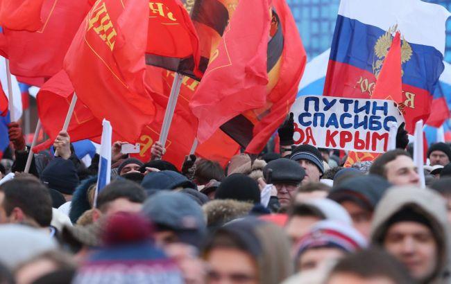Фото: россияне негативно относятся к Украине