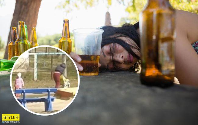 В Виннице пьяная мать упала на коляску с ребенком: поднимали прохожие