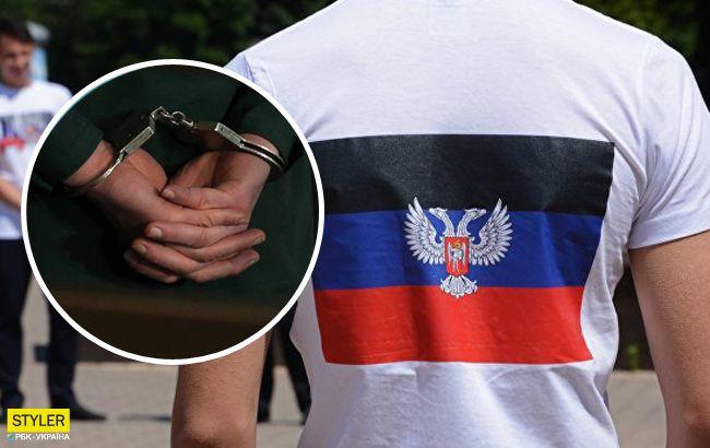 """Погрожував """"міліцією"""": у Донецькій області активісти спіймали любителя """"руського міру""""(відео)"""