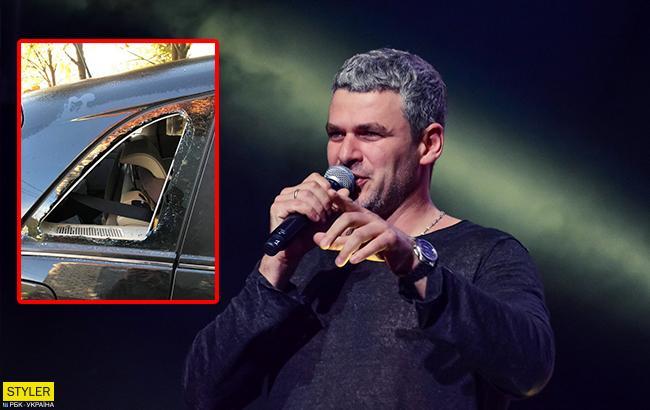 В машину відомого співака залізли злодії (фото)