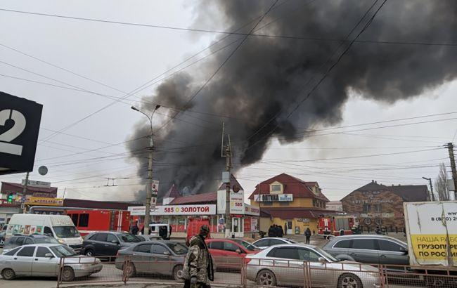 В России горит рынок, эвакуировали 150 человек