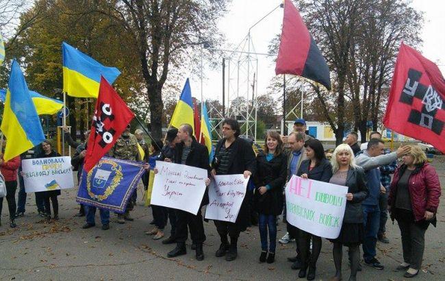 Фото: митинг в Волновахе (24 канал)