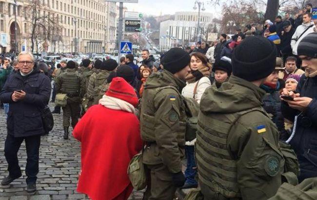 Фото: в центрі Києва проходять акції