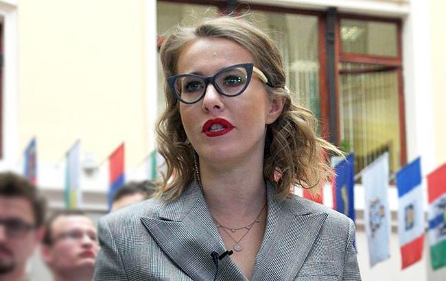 Фото: Ксения Собчак (facebook.com/CIKRussia)