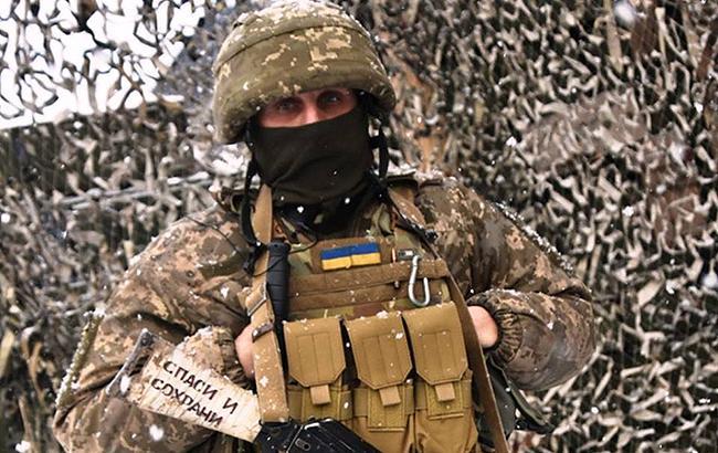 Фото: солдат ЗСУ (facebook.com/ato.news)