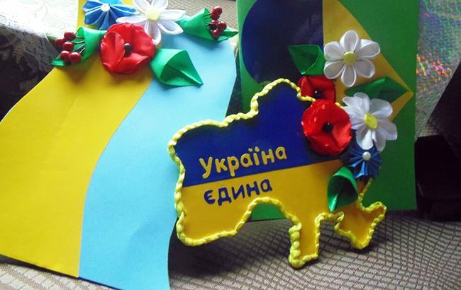 В Черновцах на карте Украины нарисовали два Крыма (фото)