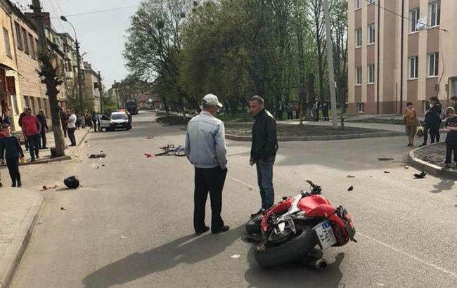 В Закарпатской области задержали мотоциклиста, который сбил мать с ребенком