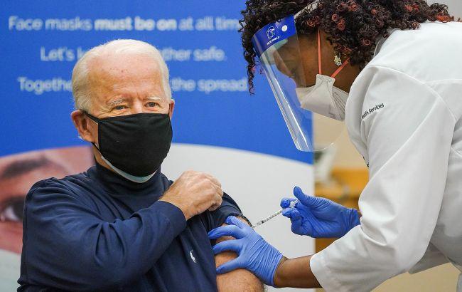 Отримав другу дозу: Байден повністю вакцинувався від COVID-19