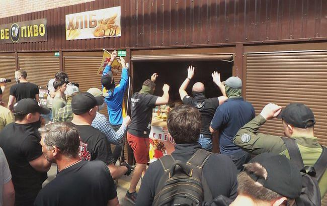 Столкновения на рынке в Киеве: полиция задержала 10 человек