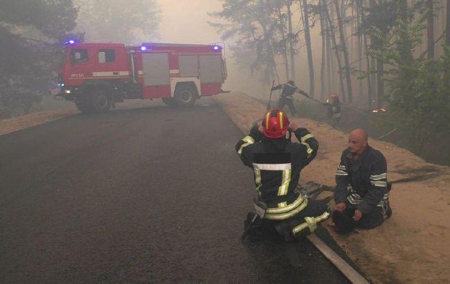 В Северодонецке вспыхнул масштабный пожар на свалке