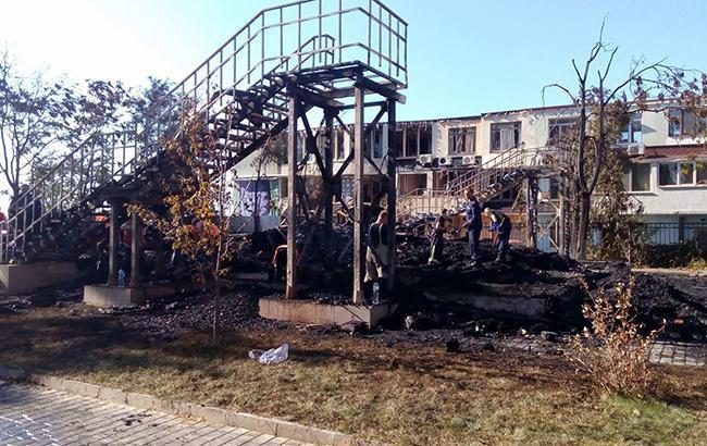 Фото: Место пожара (facebook.com Поліція Одеської області)