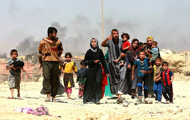 Фото: сирійські біженці (facebook.com/unitednationshumanrights)