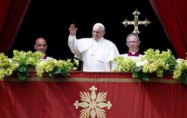 """Папа Римський попросив """"плодів миру для України"""" у великодньому зверненні"""