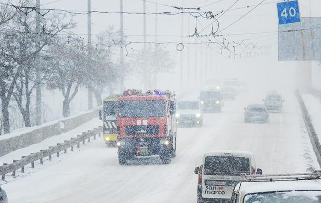 Фото: снегопад (facebook.com MNSKHERSON)