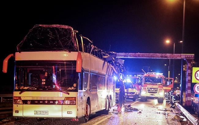 В Будапеште автобус с украинцами попал в аварию, десятки пострадавших