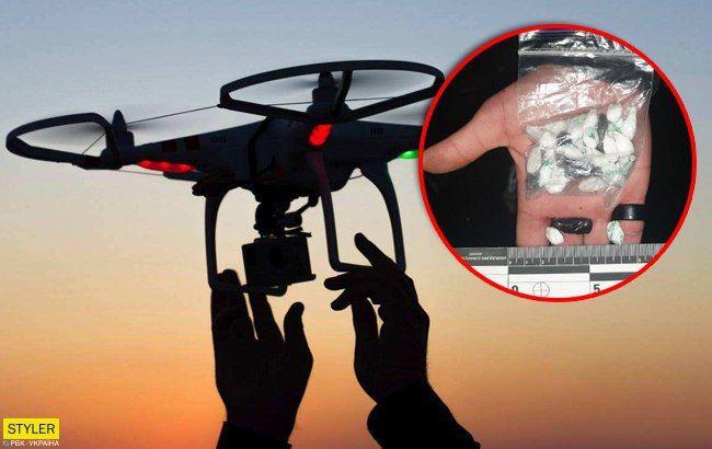 В Киеве парень хотел доставить наркотики в СИЗО на дроне: детали и фото