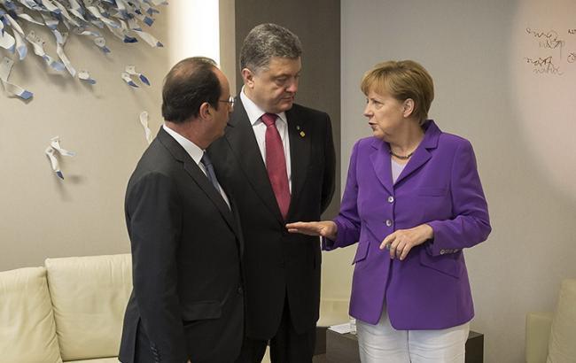 Порошенко, Меркель і Олланд наполягають на негайному припиненні вогню на Донбасі