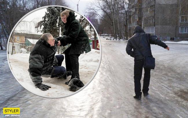 Осторожно, гололед: украинцы массово попадают в травмпункты из-за переломов