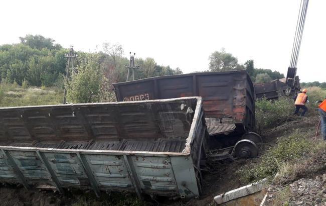Фото: авария поезда в Харьковской области (hk.npu.gov.ua)