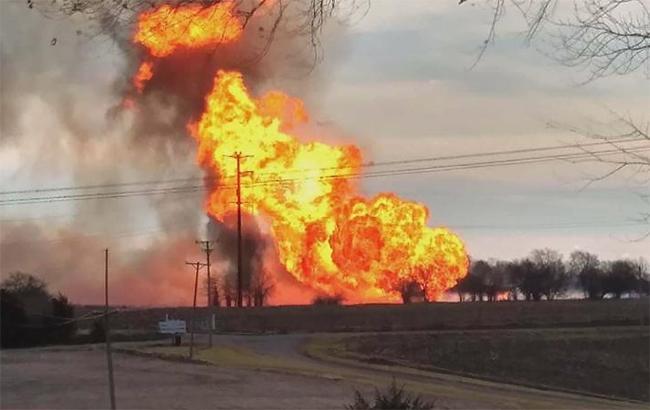 Фото: вибух на газопроводі (twitter.com-BlueRoomStream)