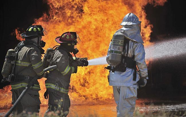В Одессе произошел пожар в здании будущего штаба ВМС Украины