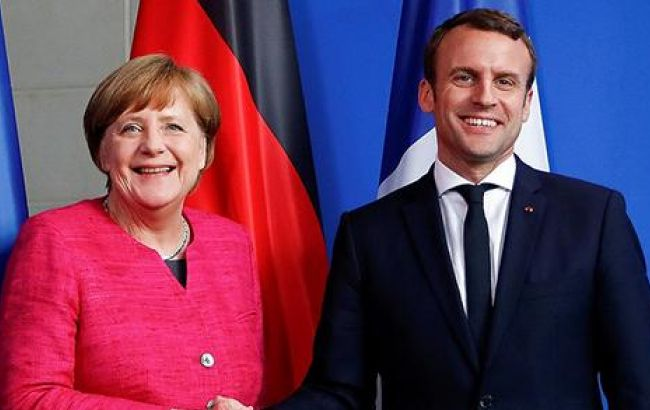 Макрон иМеркель выступят с отчетом поМинским соглашениям